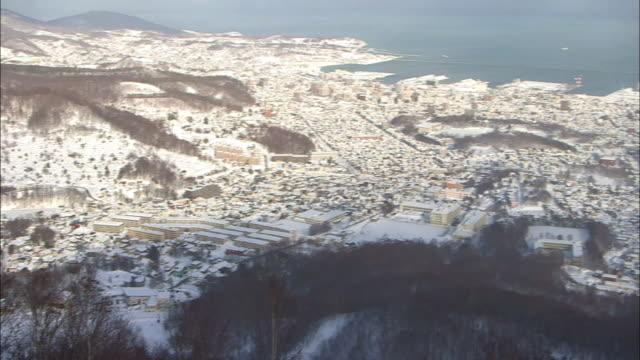 snowcovered downtown otaru, hokkaido, japan - hokkaido stock videos & royalty-free footage