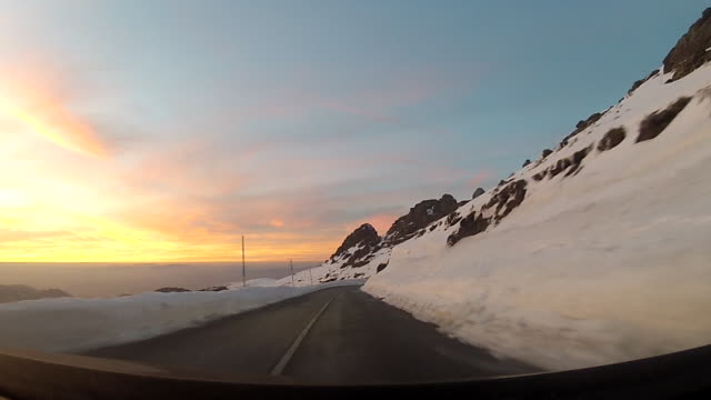 snow-covered mountains - mountain road stock videos & royalty-free footage