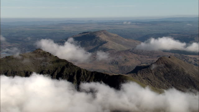 Snowdon  - Aerial View - Wales, Caernarfonshire and Merionethshire, United Kingdom
