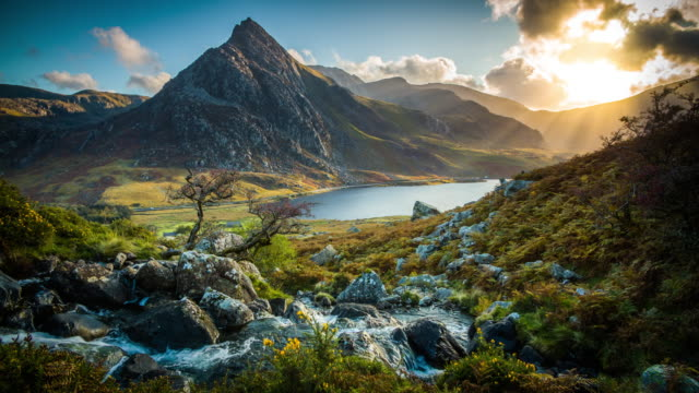 snowdonia national park in wales, uk - snowdonia stock videos & royalty-free footage