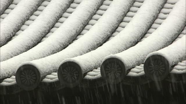 snowfall in kyoto - history stock videos & royalty-free footage