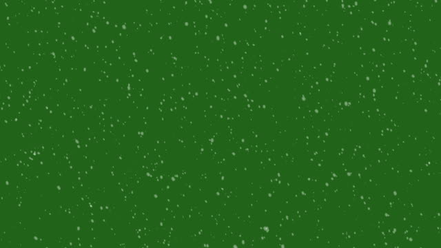 Schneefall Loop / Green Screen 4 K