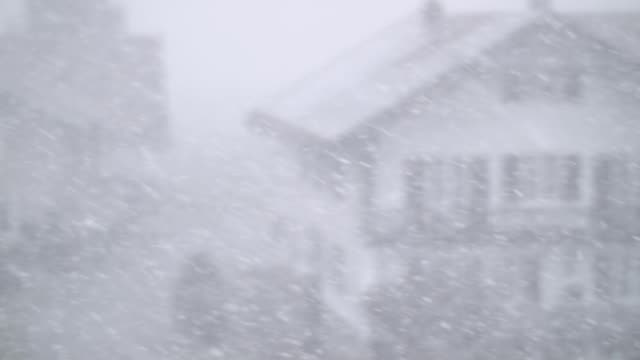 snowfall on defocused landscape - snow storm stock videos and b-roll footage