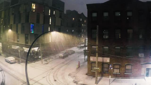 降雪時間経過 - 4k - 灯台船点の映像素材/bロール