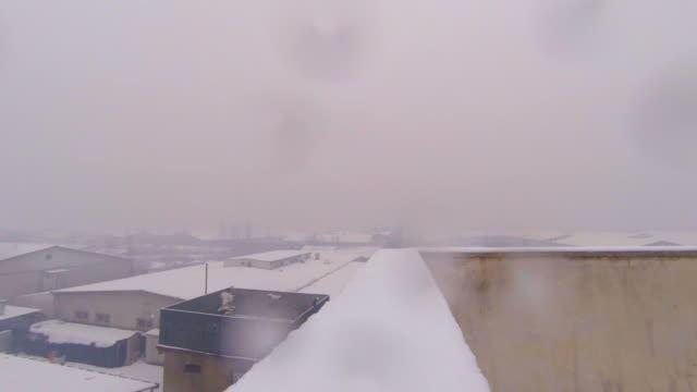 snowfall - barracks stock videos & royalty-free footage