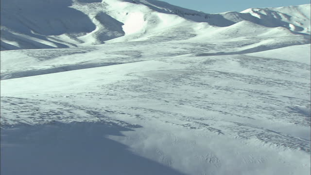 snowfield_daisetsuzan volcanic group in winter, hokkaid_ - daisetsuzan volcanic group stock videos and b-roll footage