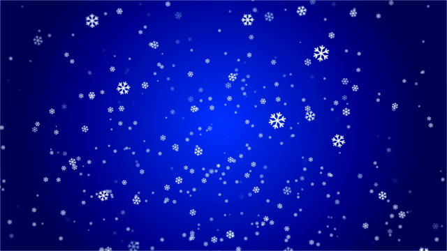 4k snowflake abstract loop wallpaper in blue background - depth marker stock videos & royalty-free footage