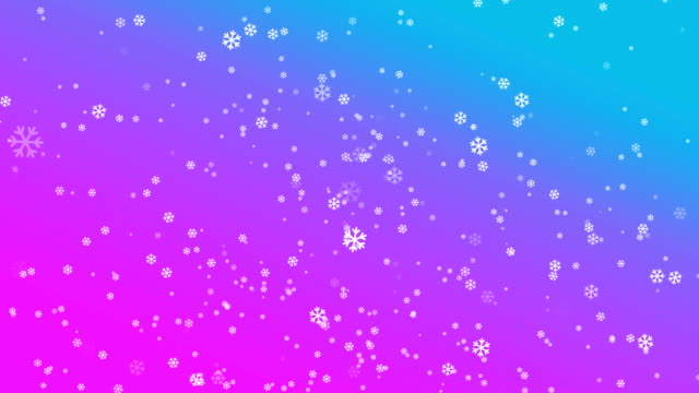 4k snowflake abstract loop wallpaper in blue pink background - depth marker stock videos & royalty-free footage