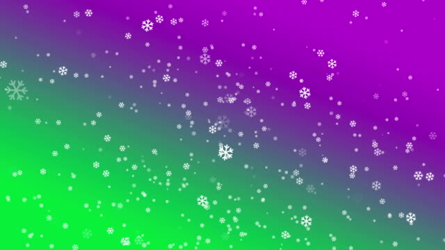 4k snowflake abstract loop wallpaper in green purple background - depth marker stock videos & royalty-free footage