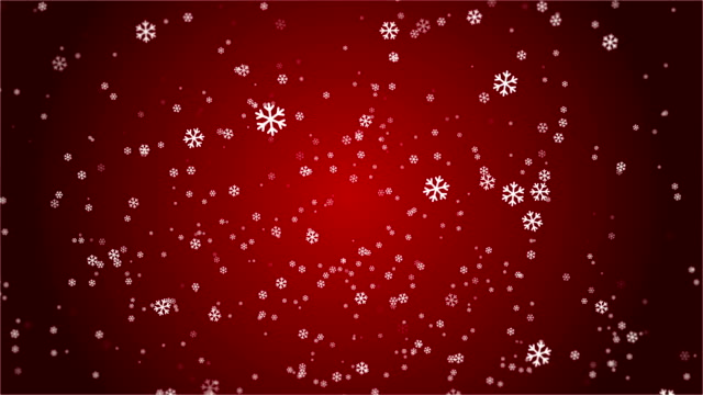 4k snowflake abstract loop wallpaper in red background - depth marker stock videos & royalty-free footage