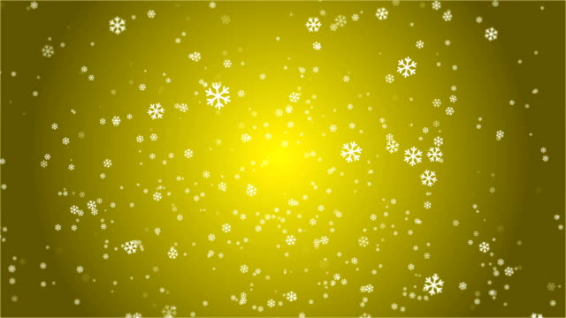 4k snowflake abstract loop wallpaper in yellow background - depth marker stock videos & royalty-free footage