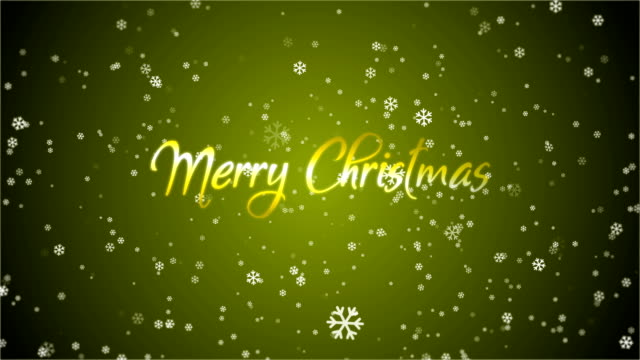 4k snowflake abstract loop wallpaper with merry christmas text in yellow background - depth marker stock videos & royalty-free footage