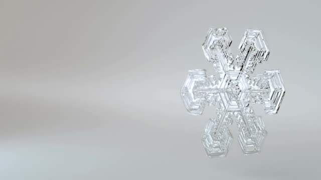 snowflake alpha and loop background 3 - ice crystal stock videos and b-roll footage