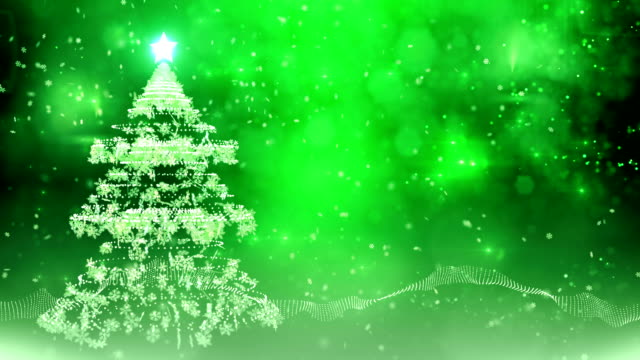 snowflake christmas tree (green) - loop - adobe after effects stock videos and b-roll footage