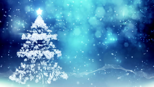 Árvore de Natal estrelada (azul)-Loop