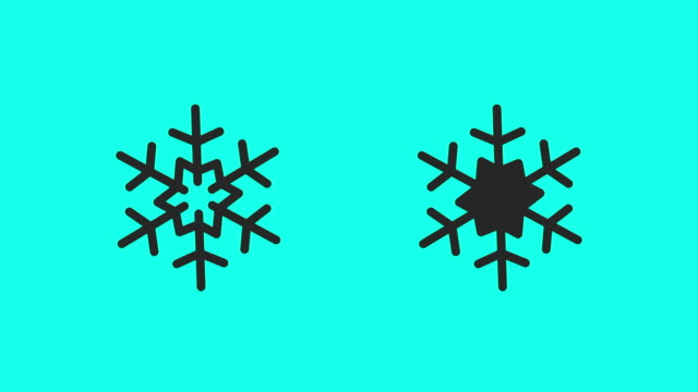 snowflake icons - vector animate - climate icon stock videos & royalty-free footage