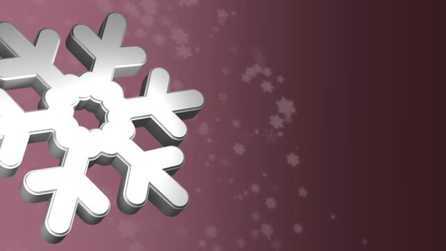 3d snowflakes with falling snowflakes background - illustration stock videos & royalty-free footage