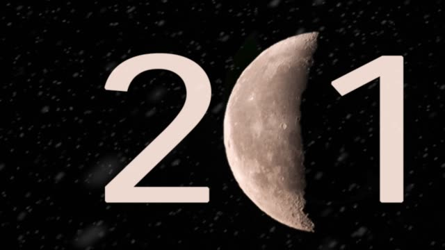 snowing crescent new moon writing 2019 - 2019 stock videos and b-roll footage
