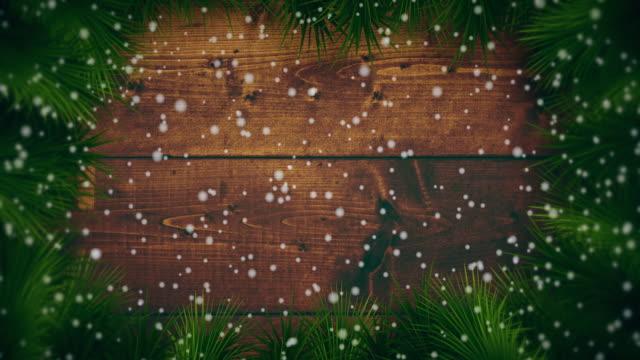 vidéos et rushes de neige sur les origines de noël - carte de noël