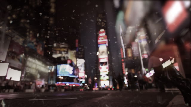 Snowing Time Square