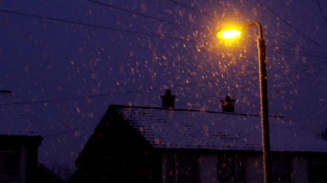 snowing - village stock videos & royalty-free footage