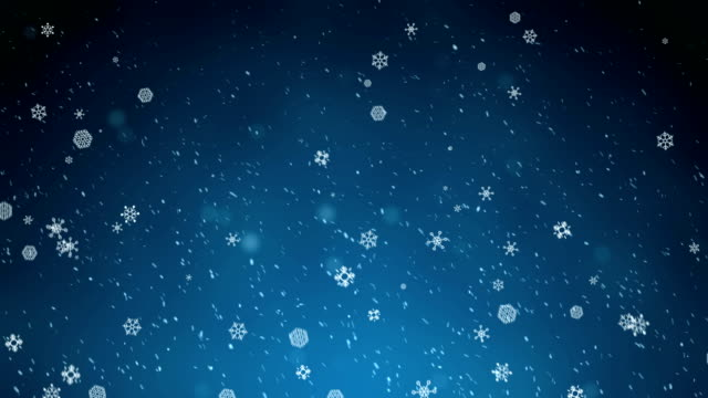 snowing:abstract sharp and blurred particles swarming against blue background - snowing stock videos & royalty-free footage