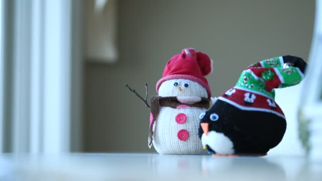 snowman by window - making a snowman stock videos & royalty-free footage