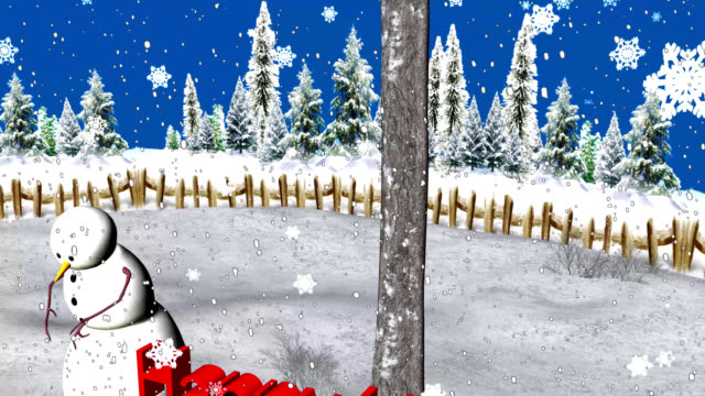 snowman in the snow-happy holidays - happy holidays stock videos & royalty-free footage