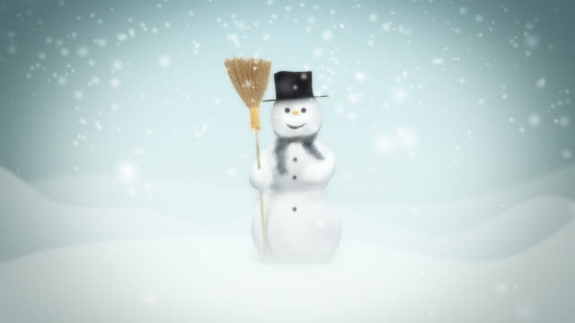 snowman. loop animation - frost stock videos & royalty-free footage