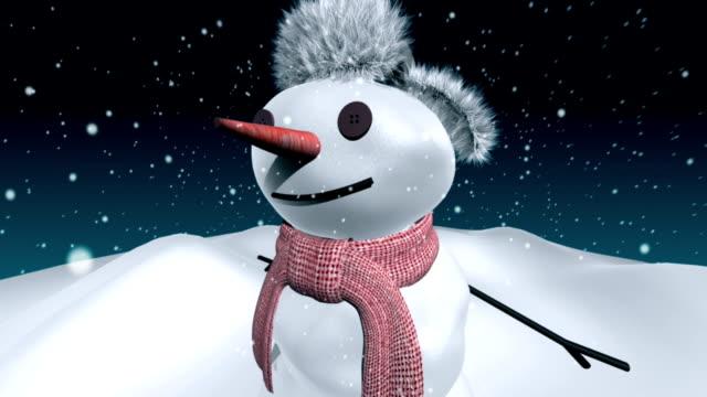 vídeos de stock, filmes e b-roll de boneco de neve - dia do ano novo