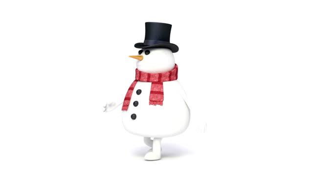 vídeos de stock e filmes b-roll de boneco de neve andar ansa - personas