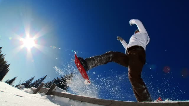 HD SLOW-MOTION: Snowshoeing Time