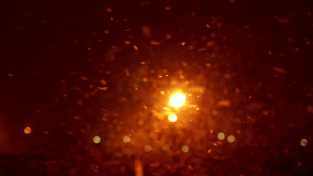 snowstorm background at night - ice crystal stock videos and b-roll footage