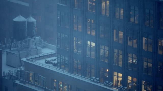 snowstorm in manhattan - blizzard stock videos & royalty-free footage