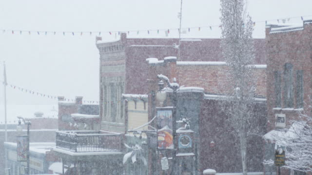 snowstorm in park city, utah - park city utah video stock e b–roll
