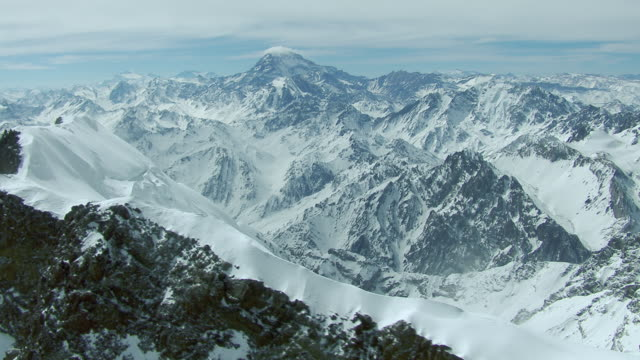 Snowy Andean Landscape With Aconcagua