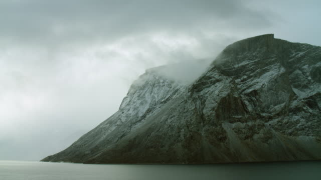 snowy baffin island headland in the arctic - northwest passage stock videos and b-roll footage