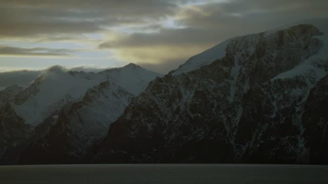 Snowy Coastal Mountains On Bylot Island