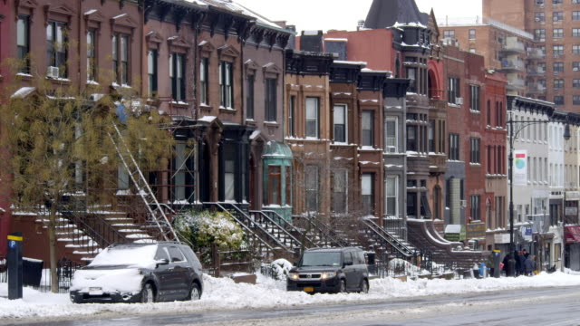 Snowy day in Park Slope Brooklyn.