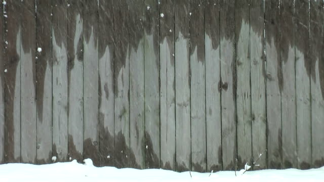 snowy fence (hd) - fence stock videos & royalty-free footage