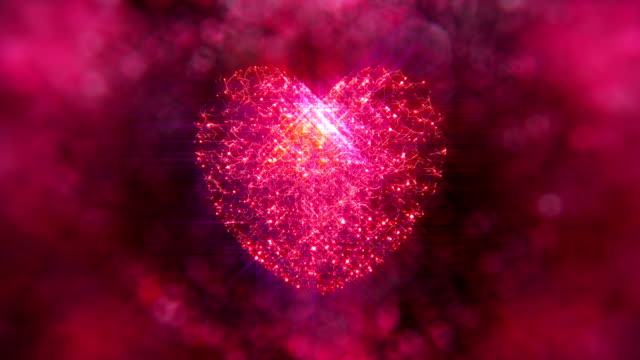 snowy glowing heart with bokeh background - crystal ball stock videos & royalty-free footage