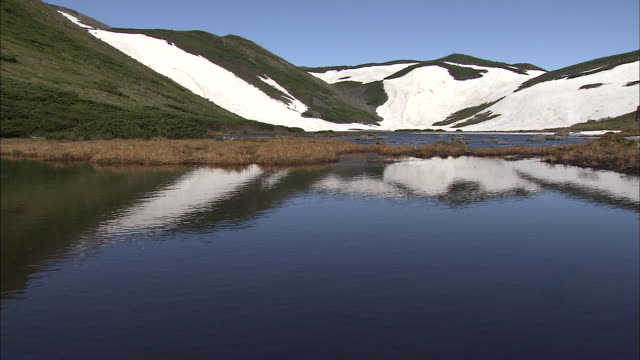 snowy gorge_daisetsuzan volcanic group, hokkaid_ - daisetsuzan volcanic group stock videos and b-roll footage