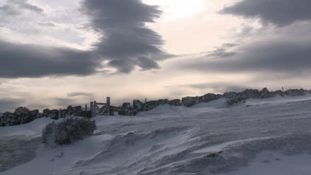 snowy hill, dartmoor uk - devon stock videos and b-roll footage