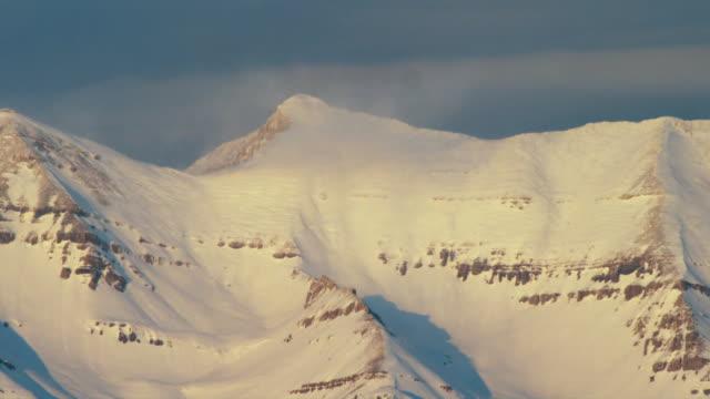 ms snowy mountain peak, orem, utah, usa - orem video stock e b–roll