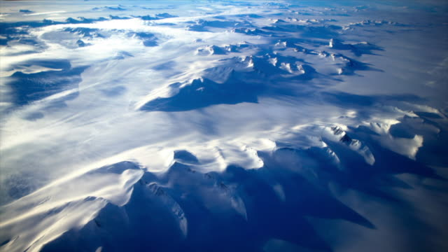 snowy mountains of antarctica - antarctica aerial stock videos & royalty-free footage