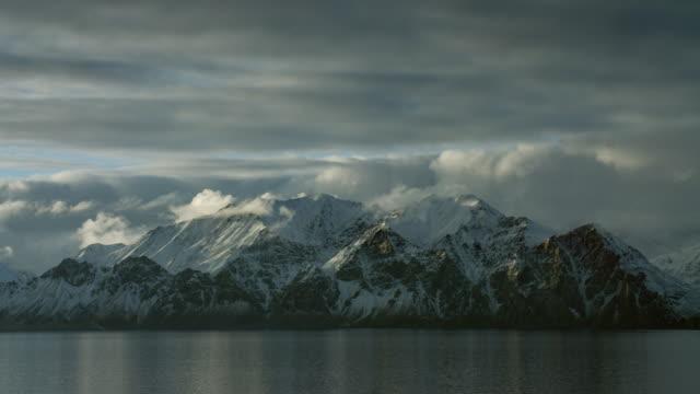 Snowy Mountains On Coast Of Arctic Island