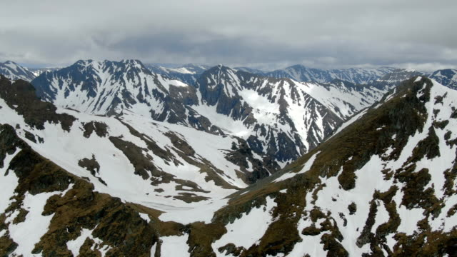 snowy peaks of piatra craiului national park ,carpathian mountains/ aerial drone view, romania - transylvania stock videos & royalty-free footage