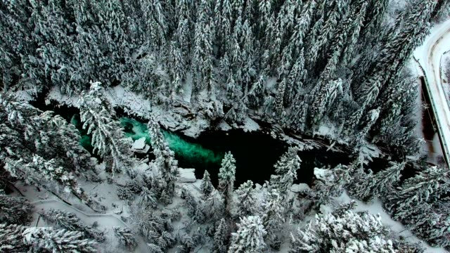 snowy river landscape - 30 seconds or greater stock videos & royalty-free footage