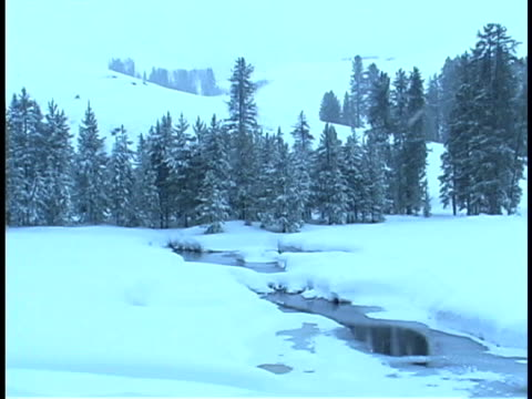 snowy stream - medium group of objects stock videos & royalty-free footage