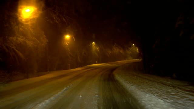 Snowy strada